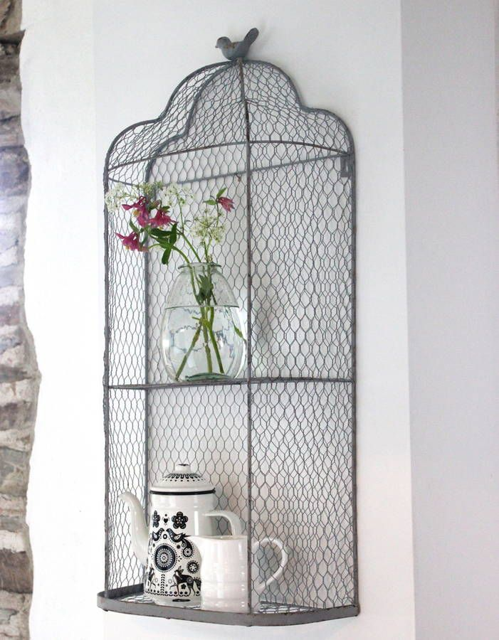 perching bird metal wall shelves by the forest & co | notonthehighstreet.com