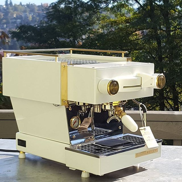 The last of the @lamarzoccohome @lamarzocco craftsman series Linea Mini with @acaiacoffee #lunarscale mod is out the door. Thanks for the opportunity to make these awesome machines, and if you are lucky enough to get one, show us some pics. PS. Still one Lunar scale kit in stock on the website. ⬆⬆⬆ #espressocustoms #customespressomachine #instadesign #espresso #coffeedesign #machinedesign #machineart