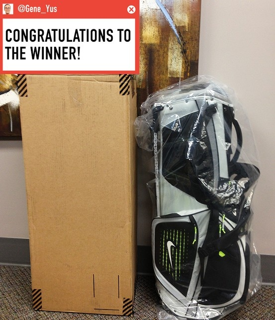 Nike Golf Bag (valued at $200) Congratulations to the winner Steven C!
