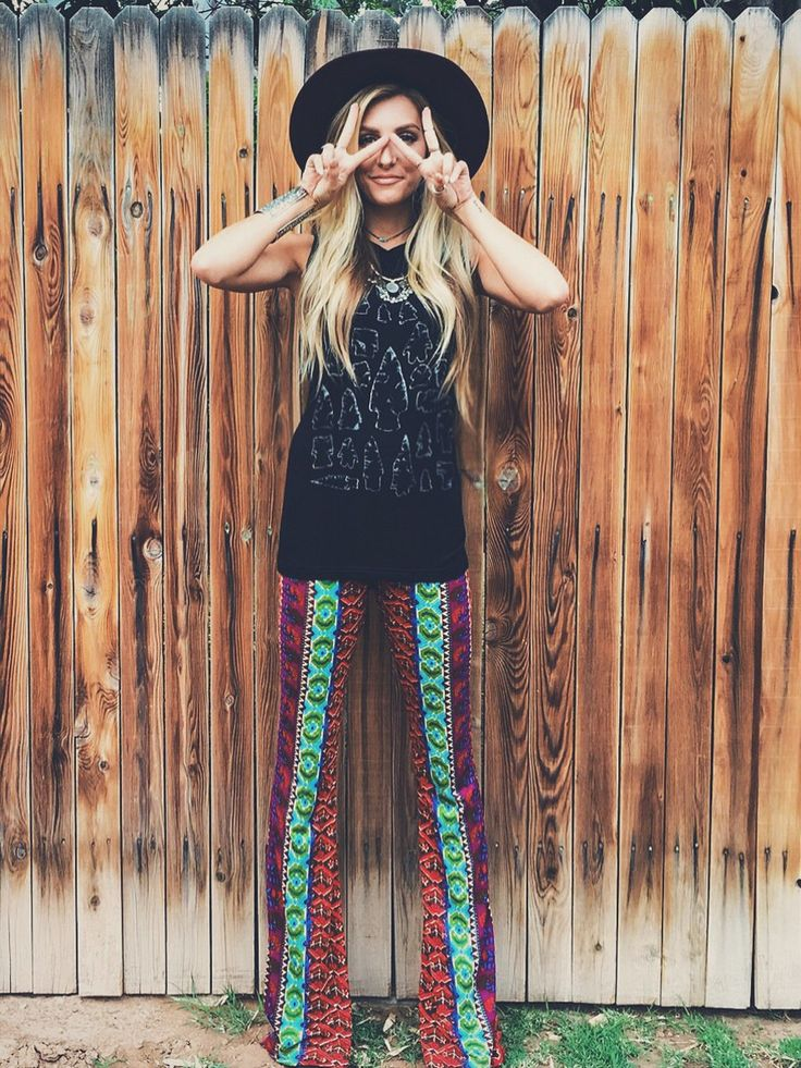 Raga Printed Bell Bottom Pants In Multi Fashion Bell
