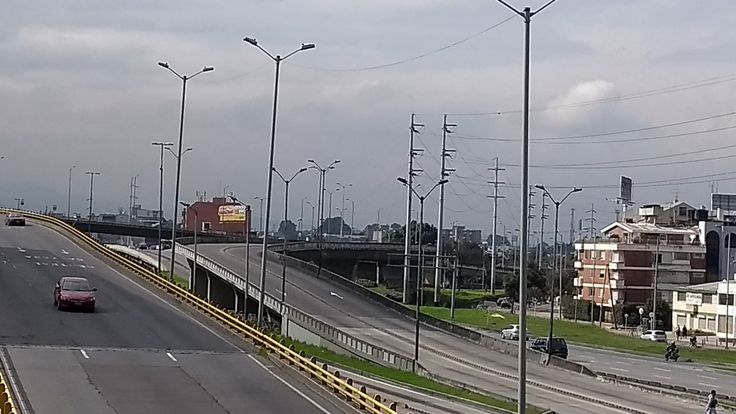 Puentes vehiculares sobre la Autopista norte, el 31 de diciembre de 2017 en Bogotá.