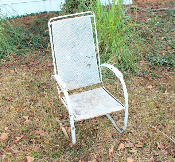 Vintage Outdoor Furniture Patio Lawn White Chair By TattedPicker, This Is  One Of The Good