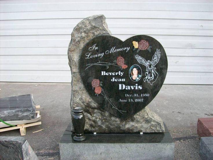 Unique Custom Heart Shaped Headstone Monument Beautiful