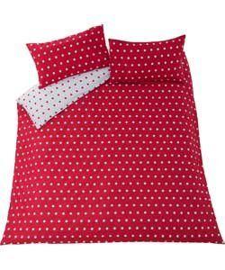Polka Dot Red Bedding Set (Duvet Cover With 2 Pillow Case) Reversible - Double. Polka Dot Duvet Set http://www.amazon.co.uk/dp/B01B64FVE8/ref=cm_sw_r_pi_dp_LtLWwb06NSSPP