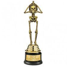 Trophée Halloween Squelette 'Meilleur Vêtu' Déguisement Prix Compétition