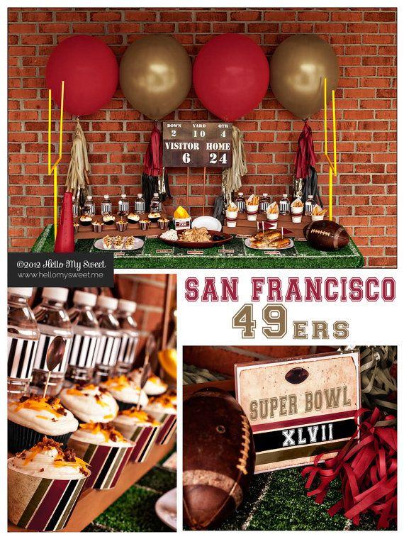 49ers Super Bowl Party  San Francisco  Printable by HelloMySweet, $20.00