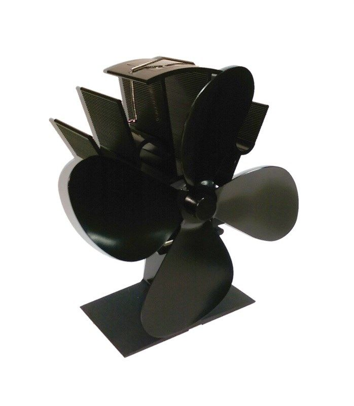 This elite stove fan has four blades and an ultra low start up temperature requirement of only 50°C!The fan is virtually silent and requires no batteries to operate it.The stove fan circulates the warm air from your fire around the room to help reduce fuel consumption and heat the room faster and more efficiently therefore reducing your fuel costs.Please select either 187mm or 230mm size from the drop down list.