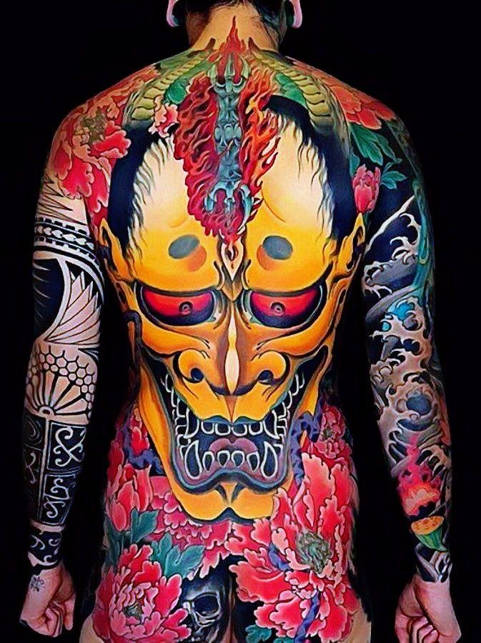 Stunning back japanese tatoo.