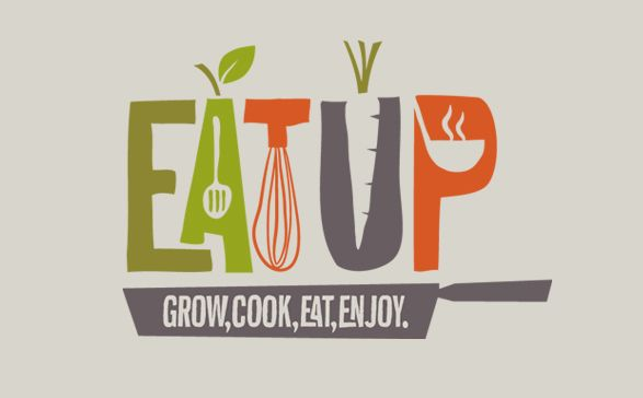 Fun logo for a kids healthy eating magazine. Nice use of flat color and stylized illustration.