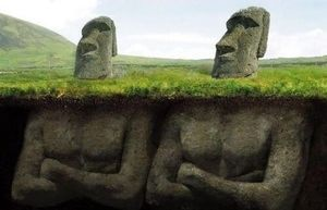 moai statue whole image