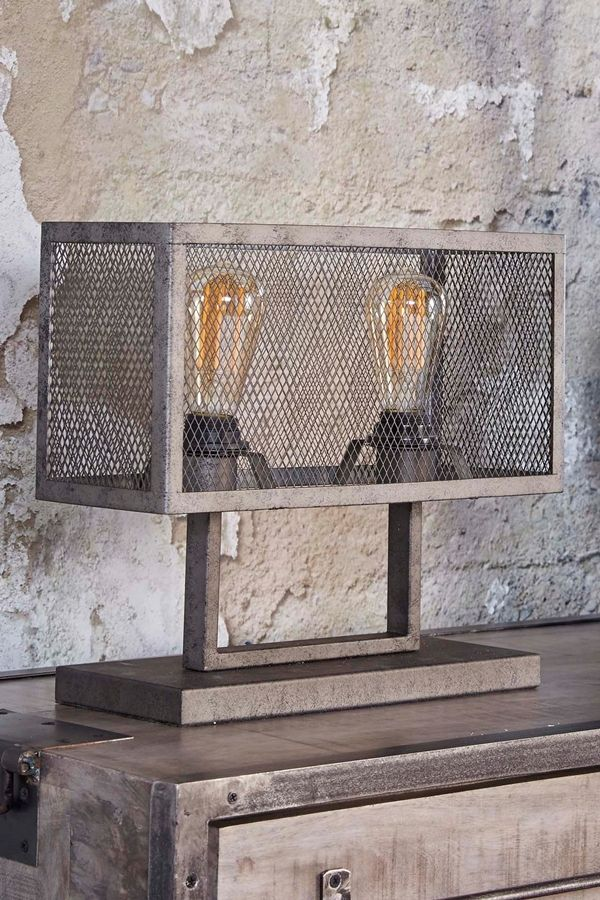 tischlampe cage 2l in 2019 lampen im retro und industrie. Black Bedroom Furniture Sets. Home Design Ideas