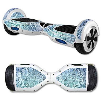 MightySkins Protective Vinyl Skin Decal for Hoverboard Self Balancing Scooter mini hover 2 wheel unicycle wrap cover sticker Carved Blue