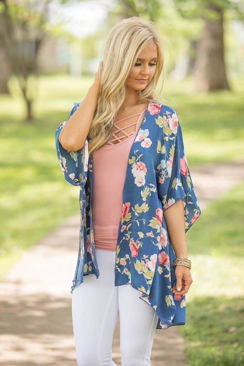 Can't Predict My Heart Floral Kimono - The Pink Lily