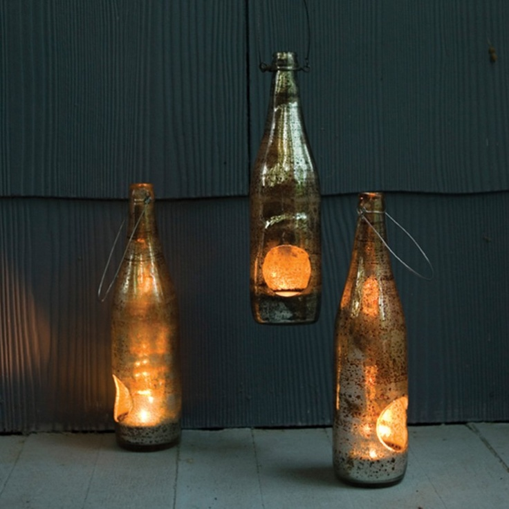 The Homeport Collection Takara Elm Bottle Lantern   Pure Home