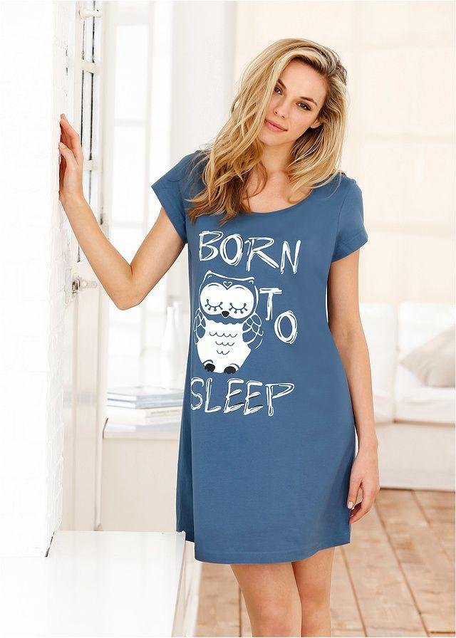 Koszula nocna Z nadrukiem z przodu • 34.99 zł • bonprix