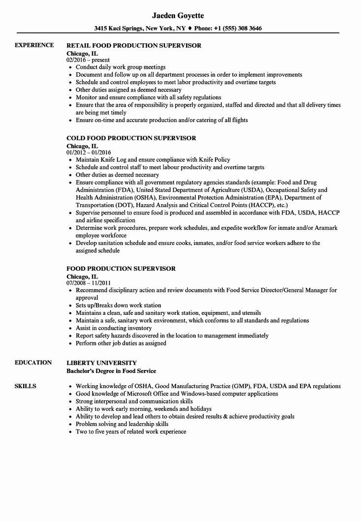 20 Food Service Job Description Resume in 2020 Good