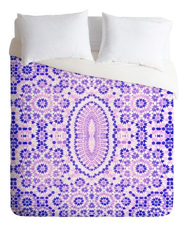 Amy Sia Morocco Purple Duvet Cover #zulily #zulilyfinds
