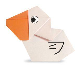 Сборка оригами пеликан