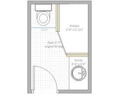 4 x 6 bathroom layout - Google శోధన