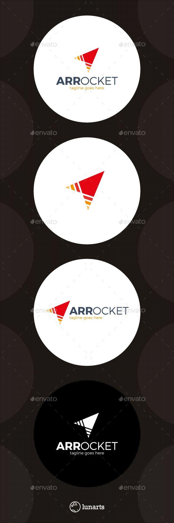 Arrow Rocket Logo — Vector EPS #market #global • Download ➝ https://graphicriver.net/item/arrow-rocket-logo/13924545?ref=pxcr