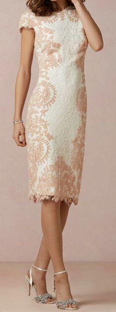 Lace pencil bridesmaid dress - My wedding ideas