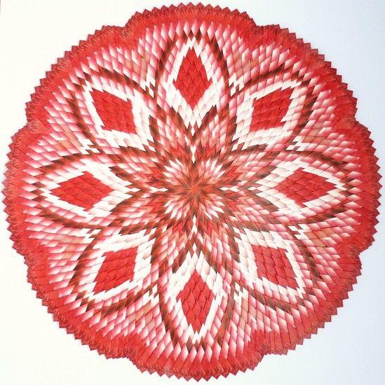 Hanneke Singels - rood-witte warmte. Teabag folding!