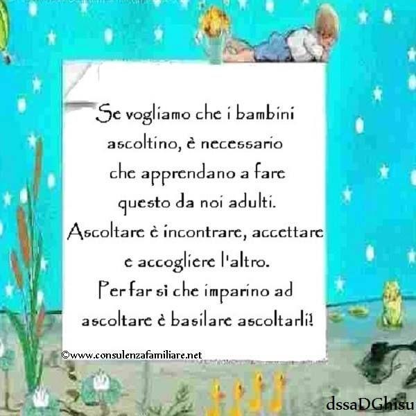 Il modo migliore per insegnare ai #bambini ad ascoltare è ascoltarli! #educazione #figlio #crescita #infanzia #puerperio #genitore #psicologiadellinfanzia #mamme #bambino #famiglie #papà #consulenzagenitoriale #psicopedagogia #dssaDGhisu