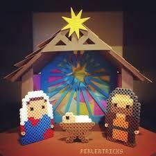 Resultado de imagen de hama bead nativity