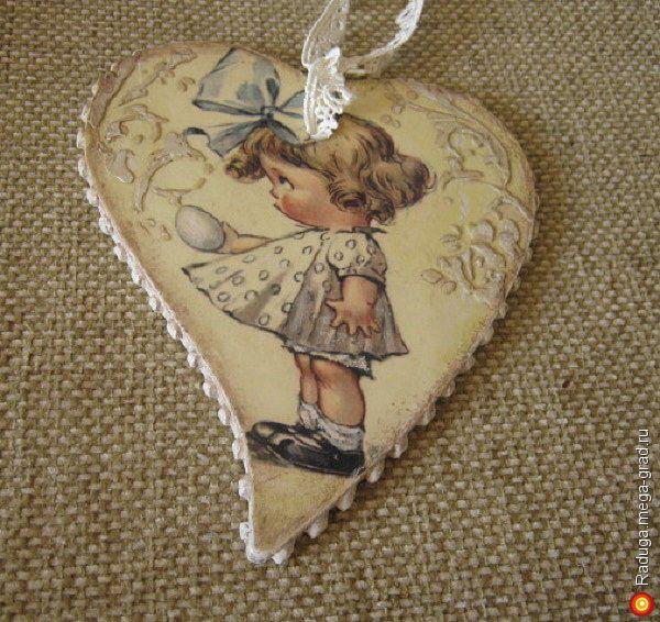 """Сердечки """"Малыши-карандаши"""" - Авторская работа, подарки на крещение, пасху. МегаГрад - online выставка-продажа авторской ручной работы"""