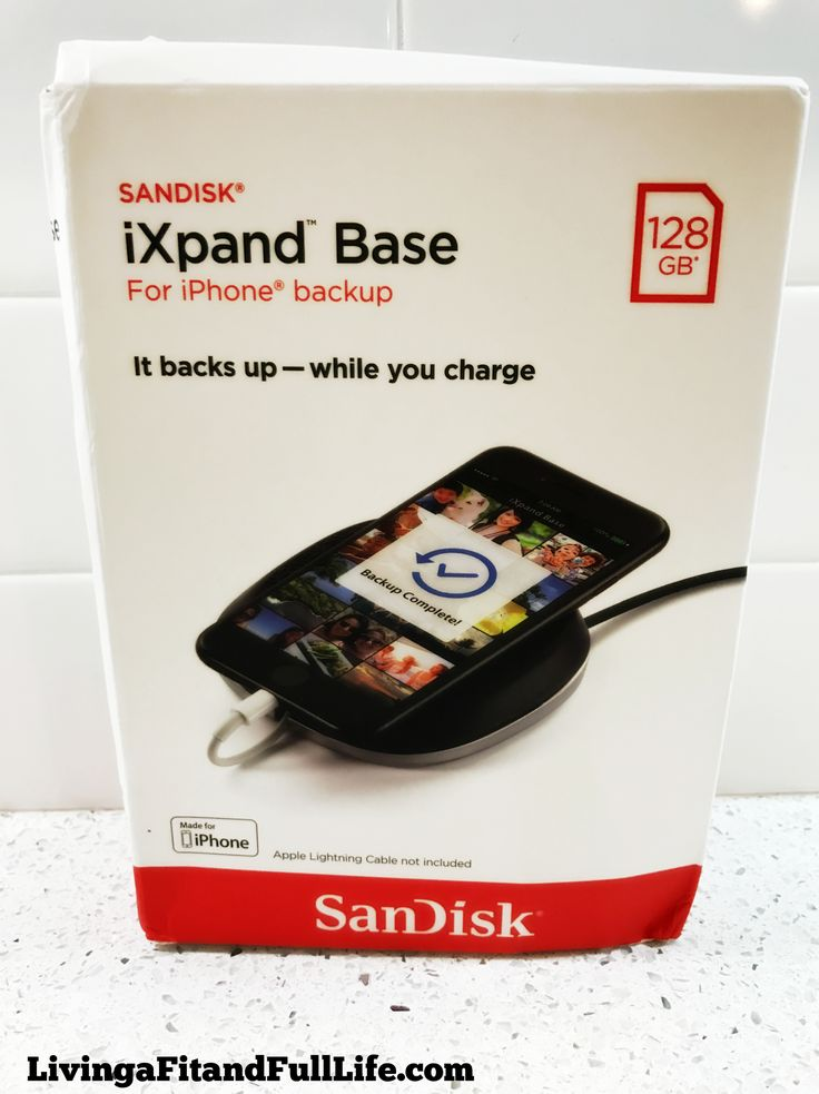 Let the SanDisk iXpand™ Base Charge and Back Up Your iPhone While You Relax! @sandisk #iphone