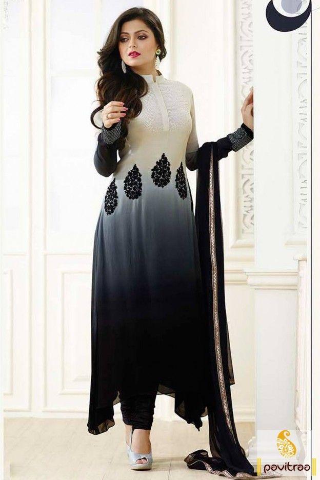Gorgeous Combination Black & Cream Straight Suit