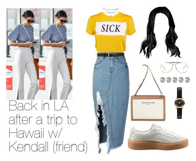 """""""Kendall jenner imagine"""" by cecilie2010-sp ❤ liked on Polyvore featuring The Ragged Priest, storets, Topshop, Puma, Marc by Marc Jacobs, CÉLINE, Balenciaga and Tory Burch"""