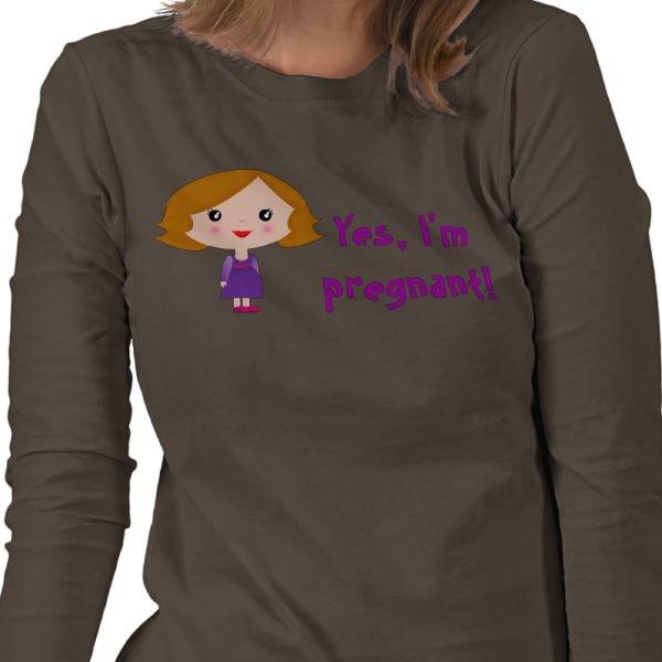Yes, I'm pregnant! Tee Shirt