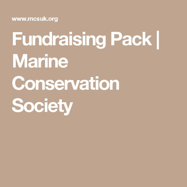 Fundraising Pack | Marine Conservation Society