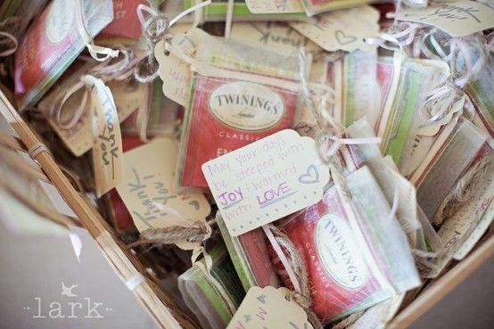 bridal tea party favors   Favors for a Bridal Shower Tea Party!   wedding