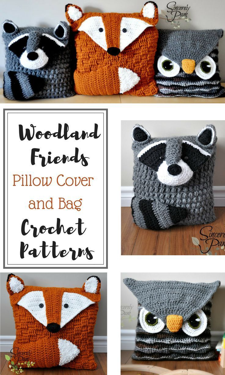 The 25 best crochet pillow covers ideas on pinterest crochet these are adorable crochet pillow covers i think i will make the owl for bankloansurffo Choice Image
