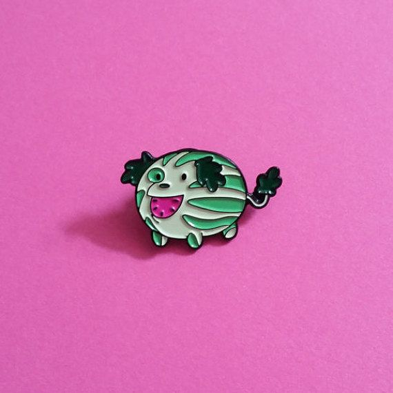 This 1.25 soft enamel pin comes from the Watermelon Island episodes of Steven…