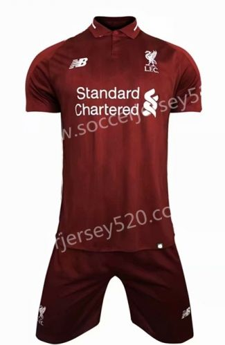 099599451 2018-19 Liverpool Home Red Soccer Uniform in 2019