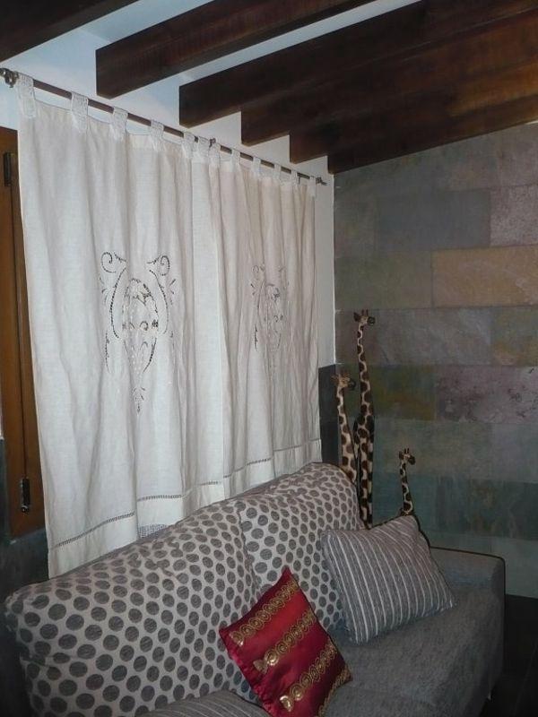 Kurze Gardinen Wohnzimmer Fenster