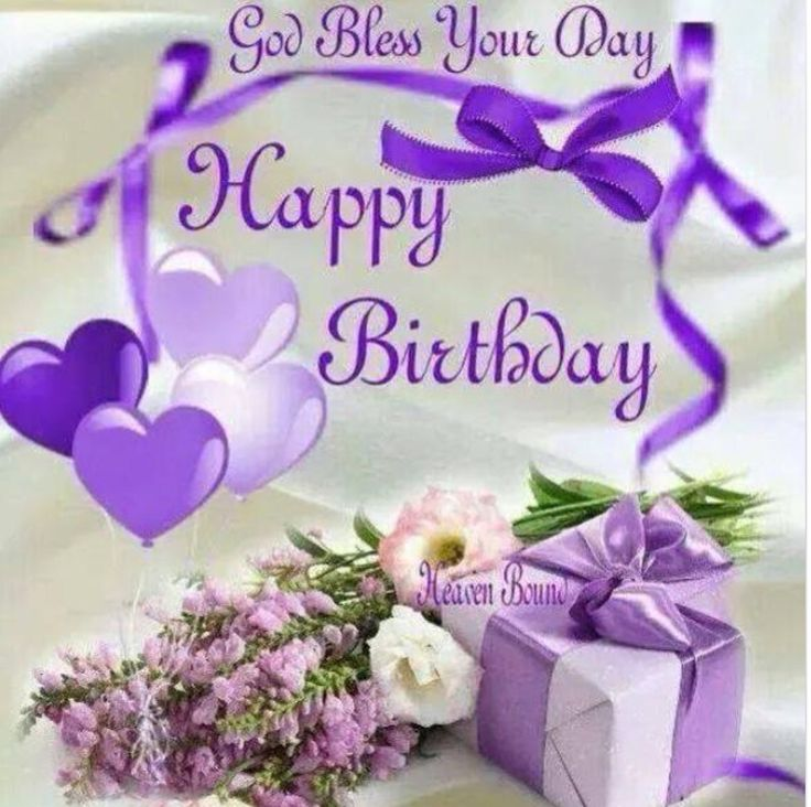 God Bless Your Day! Happy Birthday, FACEBOOK! https://www.pinterest.com/DianaDeeOsborne/happy-birthday-facebook/ - #EASY source of photos to share on social media incl Instagram to friends and family. Purple hearts and flowers. Pinned via Grammie Newman.