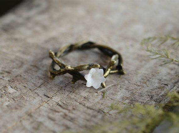 Vine RingFlower ring Bronze Ring Wish RingSpring by Wishnecklace