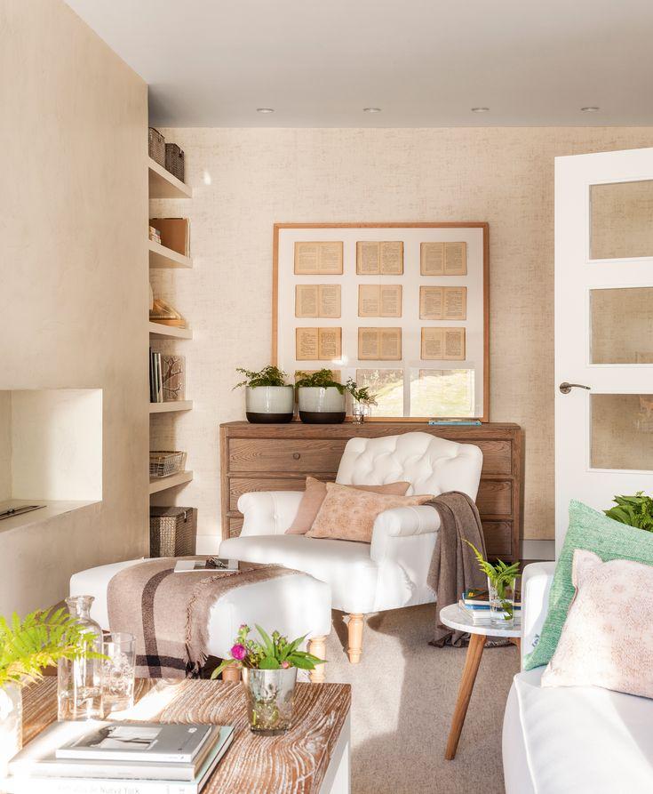 17 mejores ideas sobre salas de estudio en pinterest - Chimenea piso pequeno ...