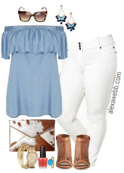 Plus Size Trendy Spring Outfit - Plus Size Fashion for Women - alexawebb.com #alexawebb