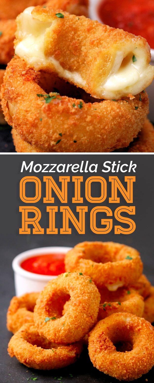 Mozzarella Stick Onion Rings