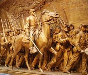 Robert Gould Shaw Memorial - one of the main characters in the film GLORY.  What a great Civil War movie!