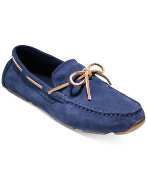 Cole Haan Men's Kelson Camp Moc Driver - Blue 10.5