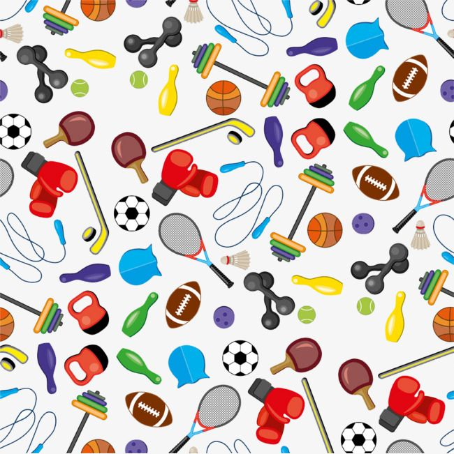 Sports Icon Collection Background Png And Clipart Detskij Sport Oboi Raboty