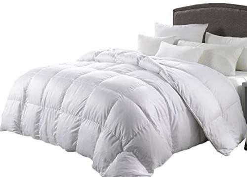 Luxurious King Size 1200 Thread Count Goose Down Alternative Comforter Solid White 100 Egyptian Cotton 750f In 2020 Comforters Bed Comforter Sets Beautiful Bedding