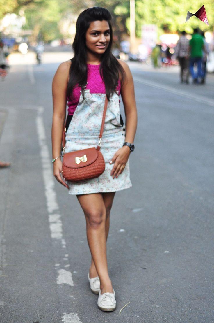 Shruti Jain's choice of colours won our attention instantly! #realpeoplerealfashion @ Mood Indigo, IIT Bombay