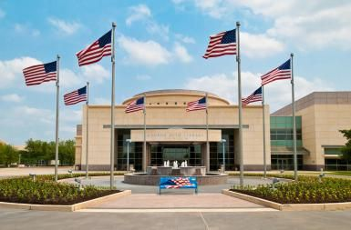 George Bush Presidential Library and Museum: Originating in Columbus, Ohio, the Bush family has developed into one of the most accomplished political families of the 20th century. Other important individuals in the Bush family tree include the Spencer family that produced Diana, Princess of Wales, which makes George W. Bush a 17th cousin to Prince William of Wales. Through the great great great grandmother of George W. Bush, Harriet Smith, he is a distant cousins of John Kerry.